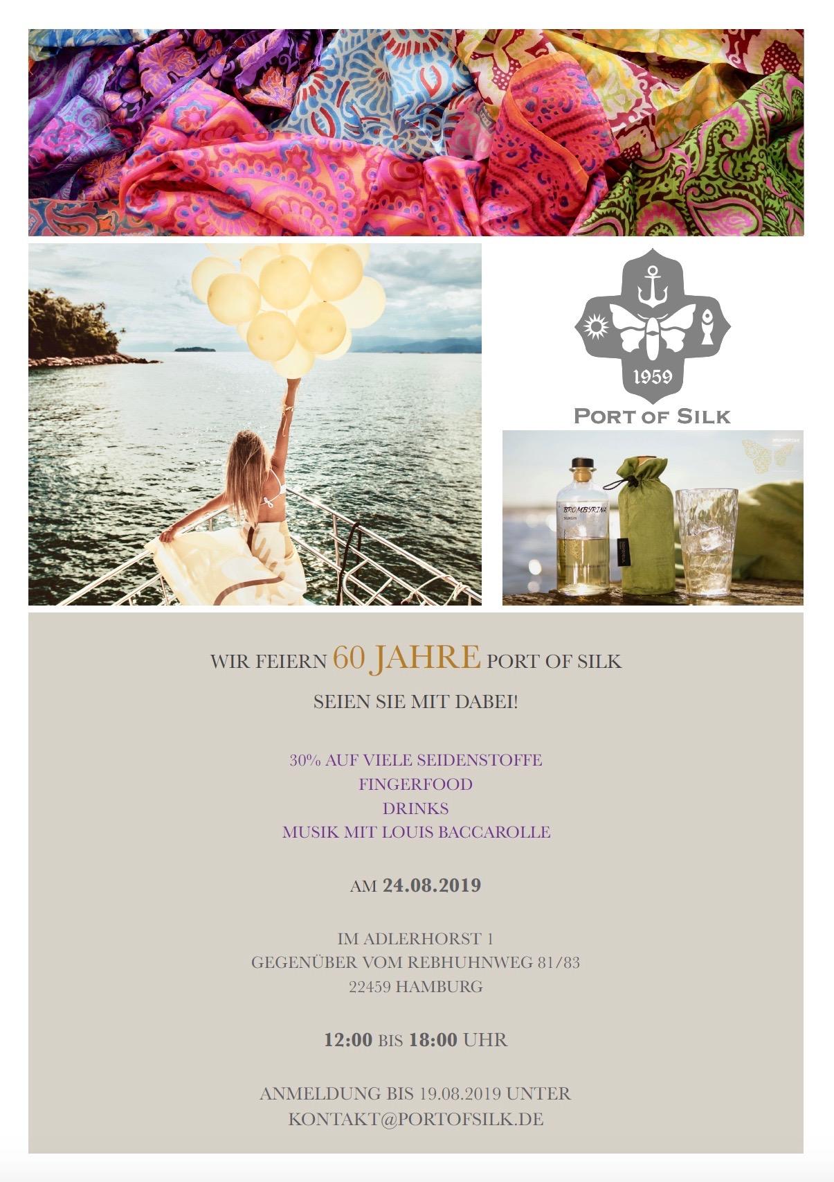 Port Of Silk Geburtstags-Shopping – Feiern Sie Mit Uns Das 60-Jahre-Geburtstagsjubiläum